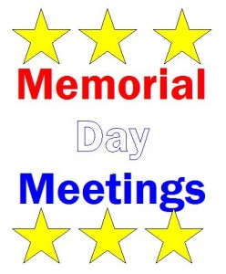 Memorial Day Meetings