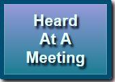 Button Heard at a Meeting